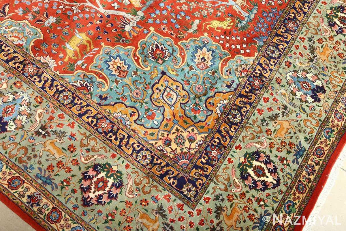 fine animal motif vintage tabriz persian rug 61064 design Nazmiyal