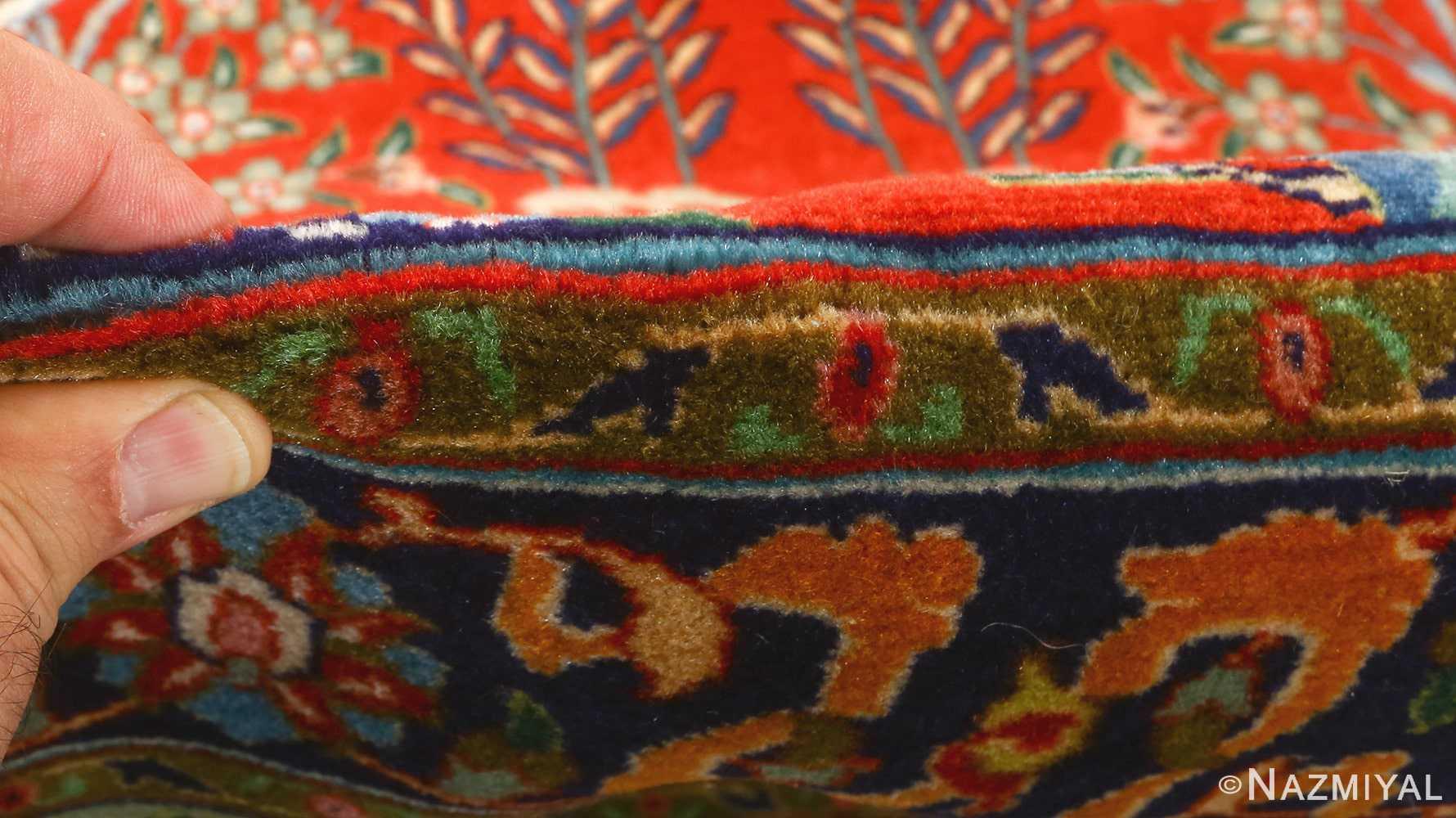 fine animal motif vintage tabriz persian rug 61064 pile Nazmiyal