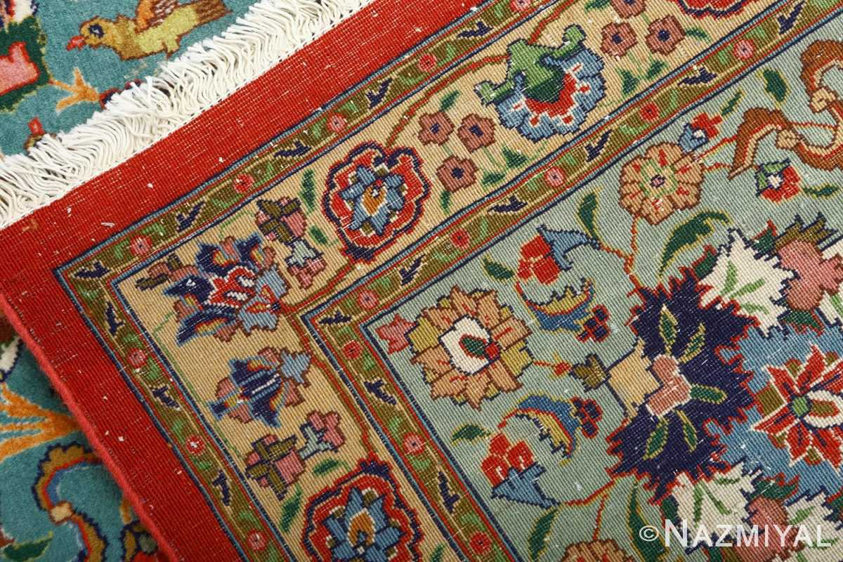fine animal motif vintage tabriz persian rug 61064 weave Nazmiyal