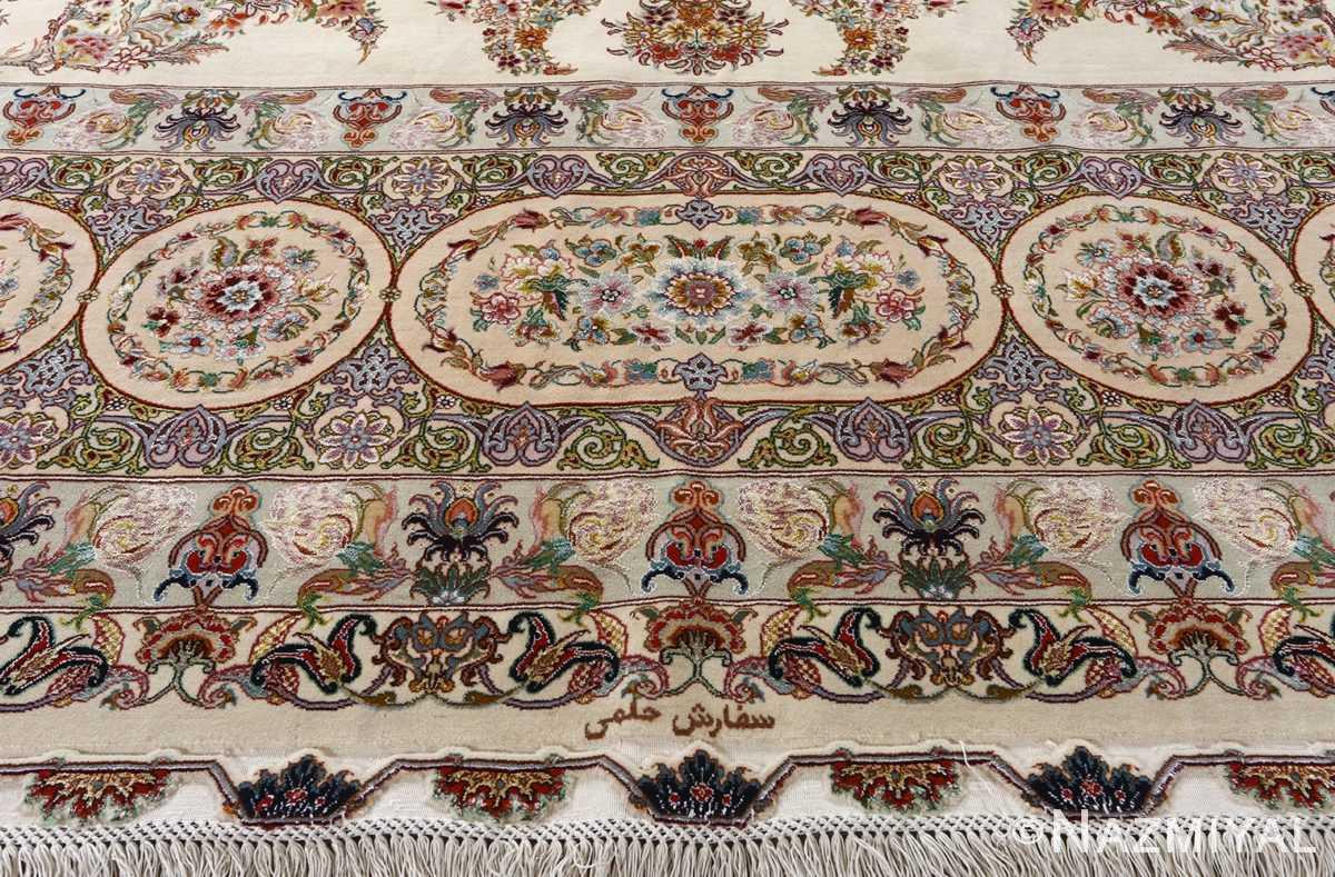 fine gharebaghi design vintage tabriz persian rug 51049 border Nazmiyal