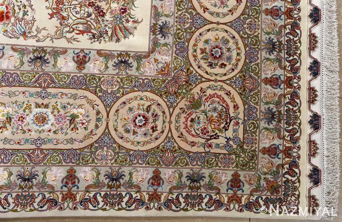 fine gharebaghi design vintage tabriz persian rug 51049 corner Nazmiyal