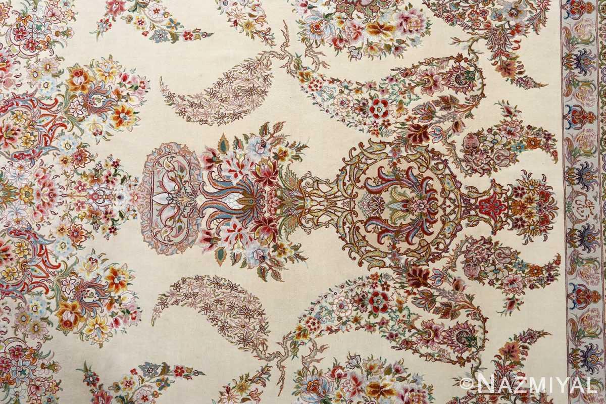 fine gharebaghi design vintage tabriz persian rug 51049 field Nazmiyal