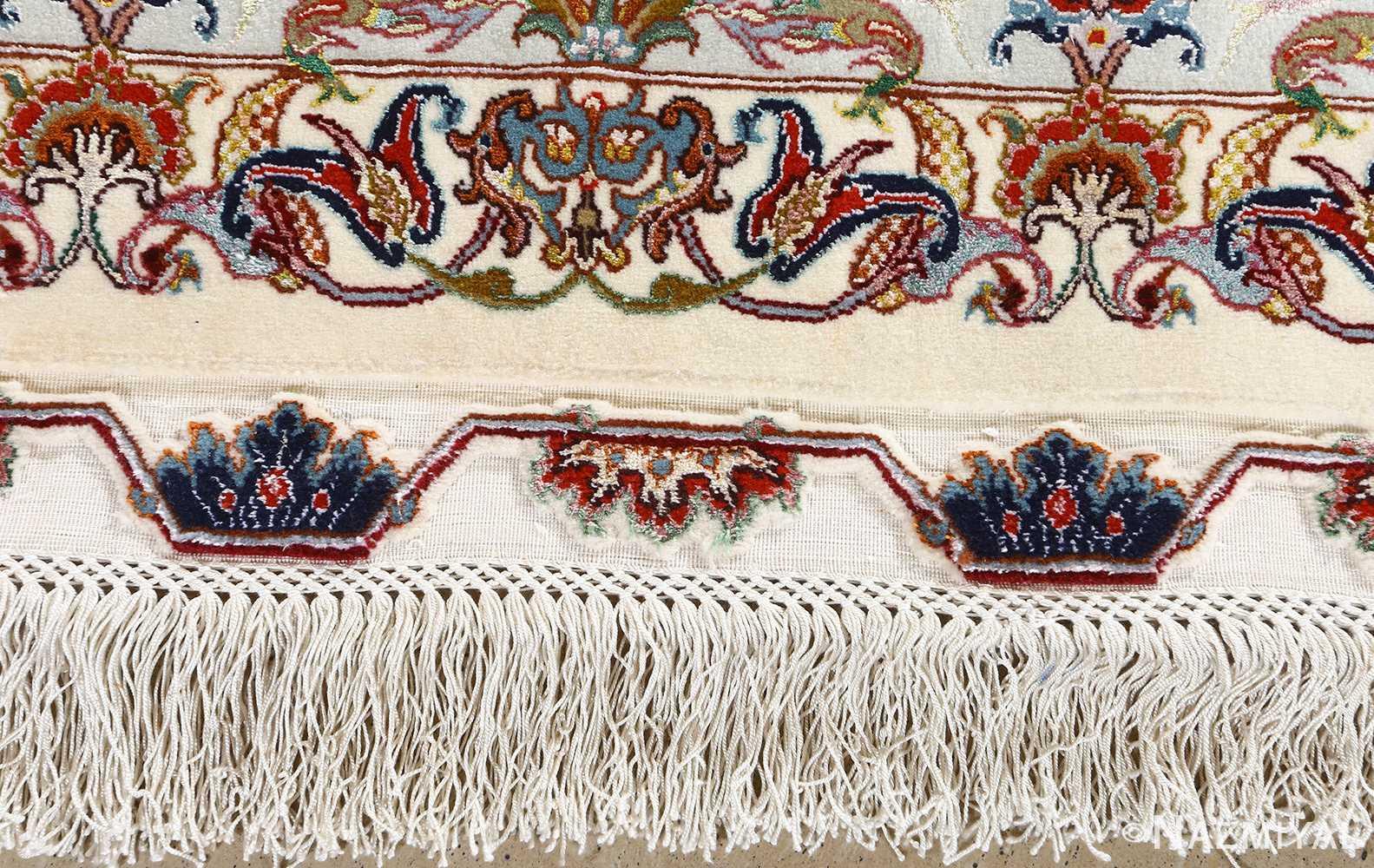 fine gharebaghi design vintage tabriz persian rug 51049 fringe Nazmiyal