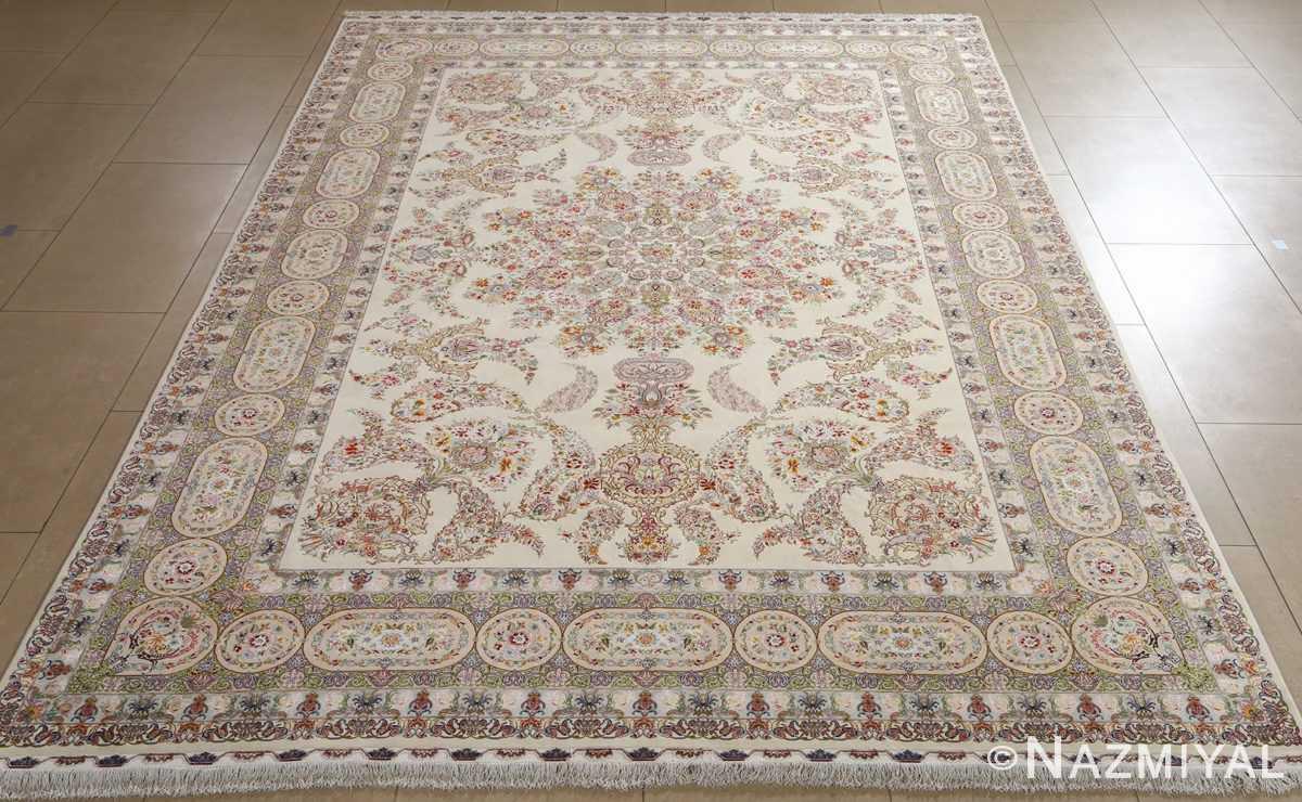 fine gharebaghi design vintage tabriz persian rug 51049 full Nazmiyal
