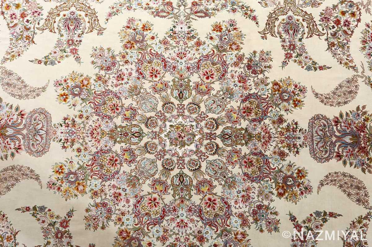 fine gharebaghi design vintage tabriz persian rug 51049 medallion Nazmiyal
