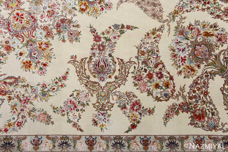 fine gharebaghi design vintage tabriz persian rug 51049 peony Nazmiyal