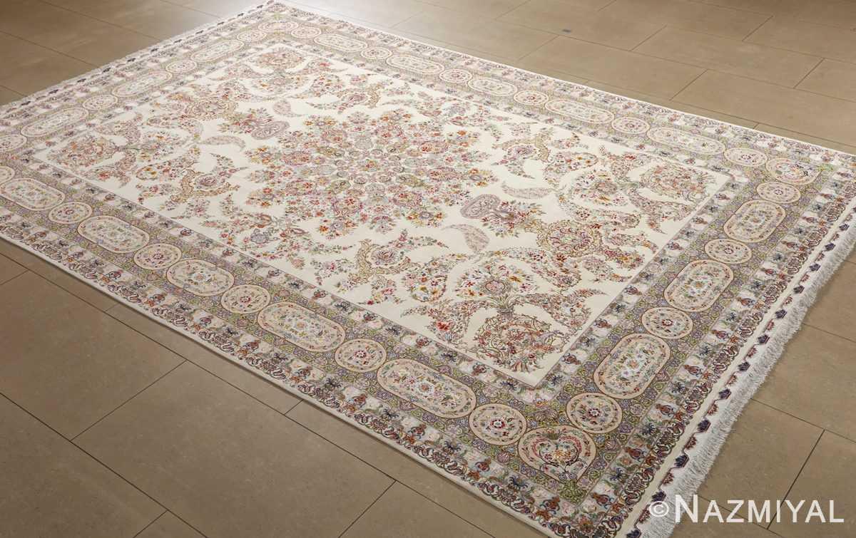 fine gharebaghi design vintage tabriz persian rug 51049 side Nazmiyal