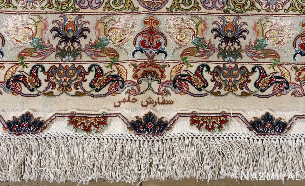 fine gharebaghi design vintage tabriz persian rug 51049 signature Nazmiyal
