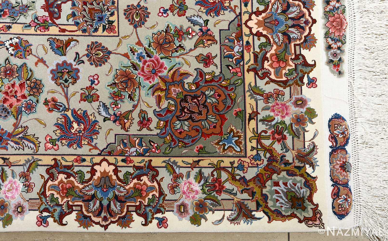 fine gharebaghi vintage tabriz persian rug 51030 corner Nazmiyal