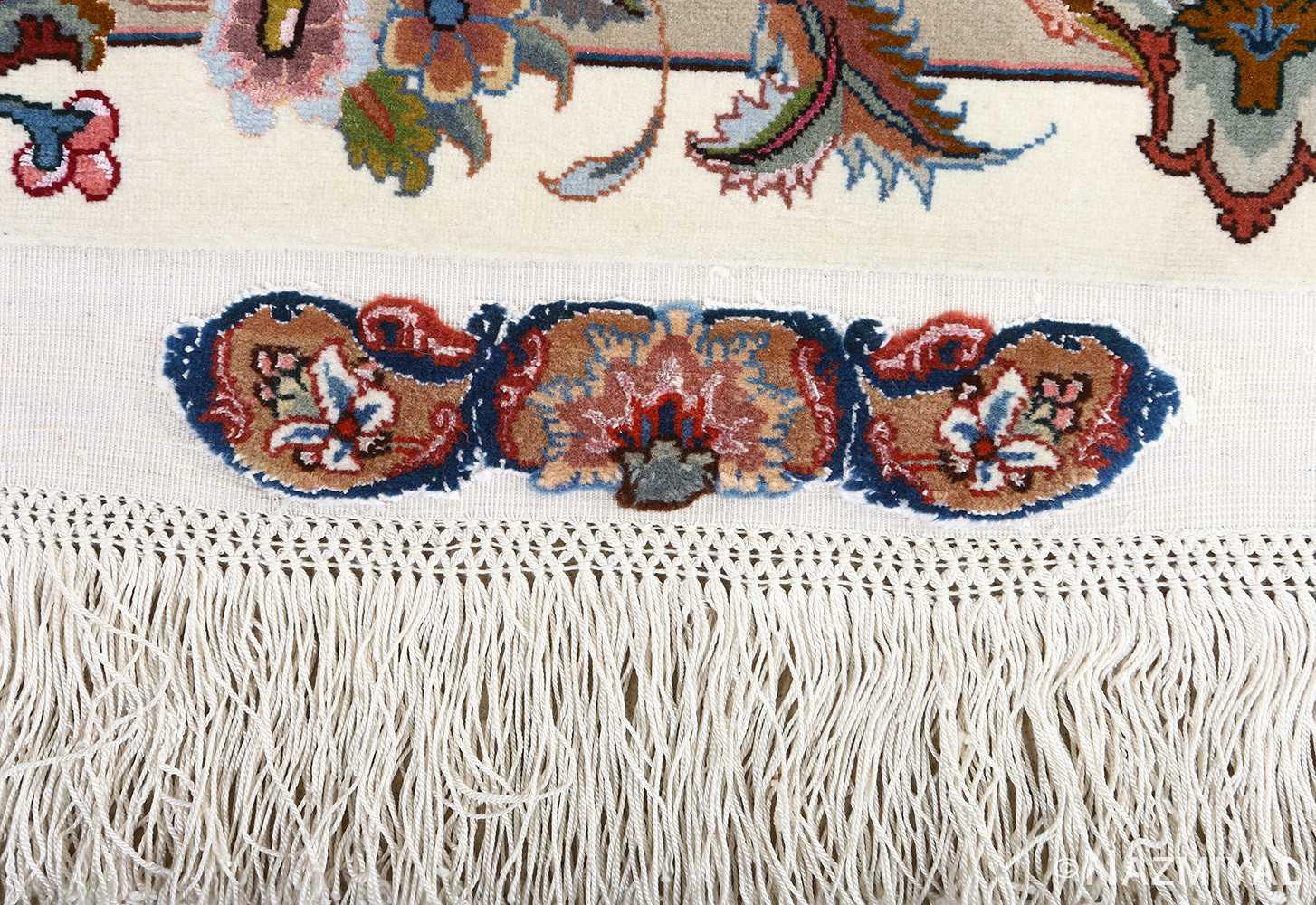 fine gharebaghi vintage tabriz persian rug 51030 flower Nazmiyal