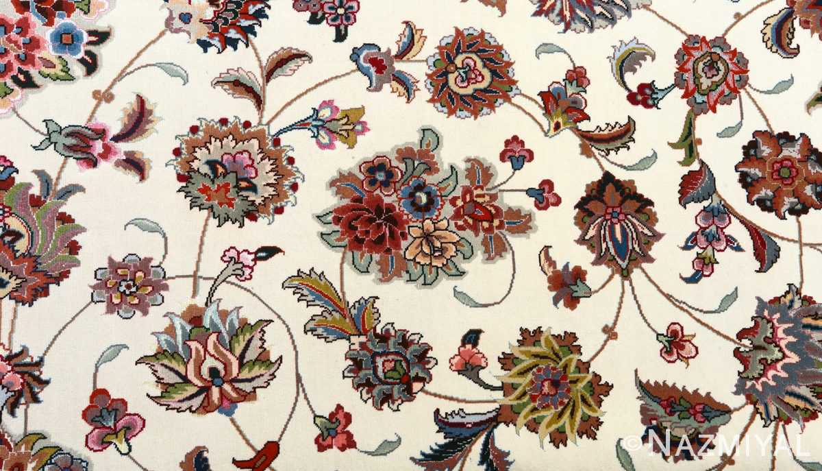 fine gharebaghi vintage tabriz persian rug 51030 peony Nazmiyal