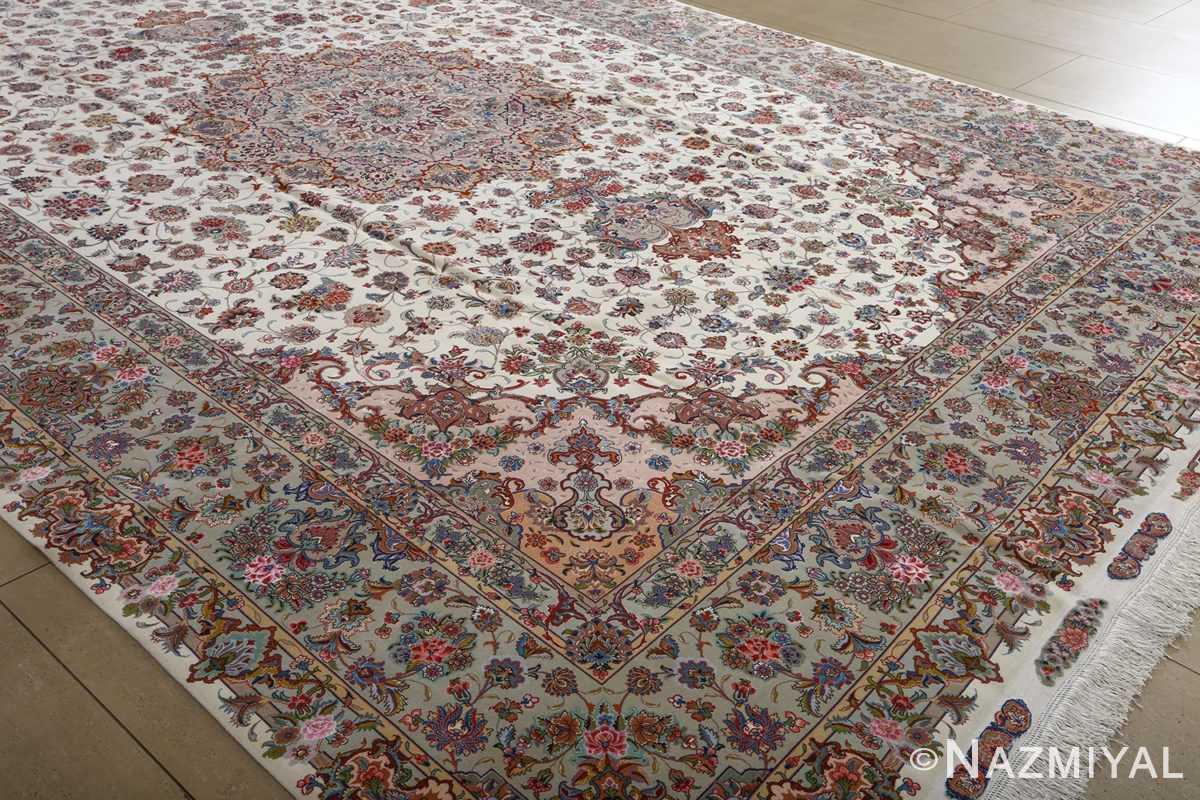 fine gharebaghi vintage tabriz persian rug 51030 side Nazmiyal