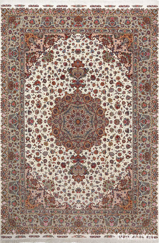 fine gharebaghi vintage tabriz persian rug 51030 Nazmiyal