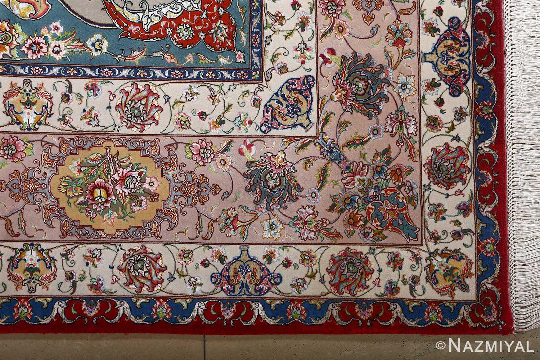 fine gharebaghi vintage tabriz persian rug 51031 corner Nazmiyal
