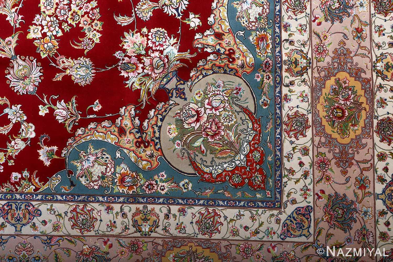 fine gharebaghi vintage tabriz persian rug 51031 design Nazmiyal
