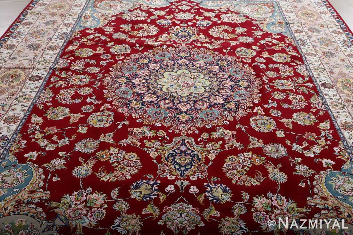 fine gharebaghi vintage tabriz persian rug 51031 field Nazmiyal