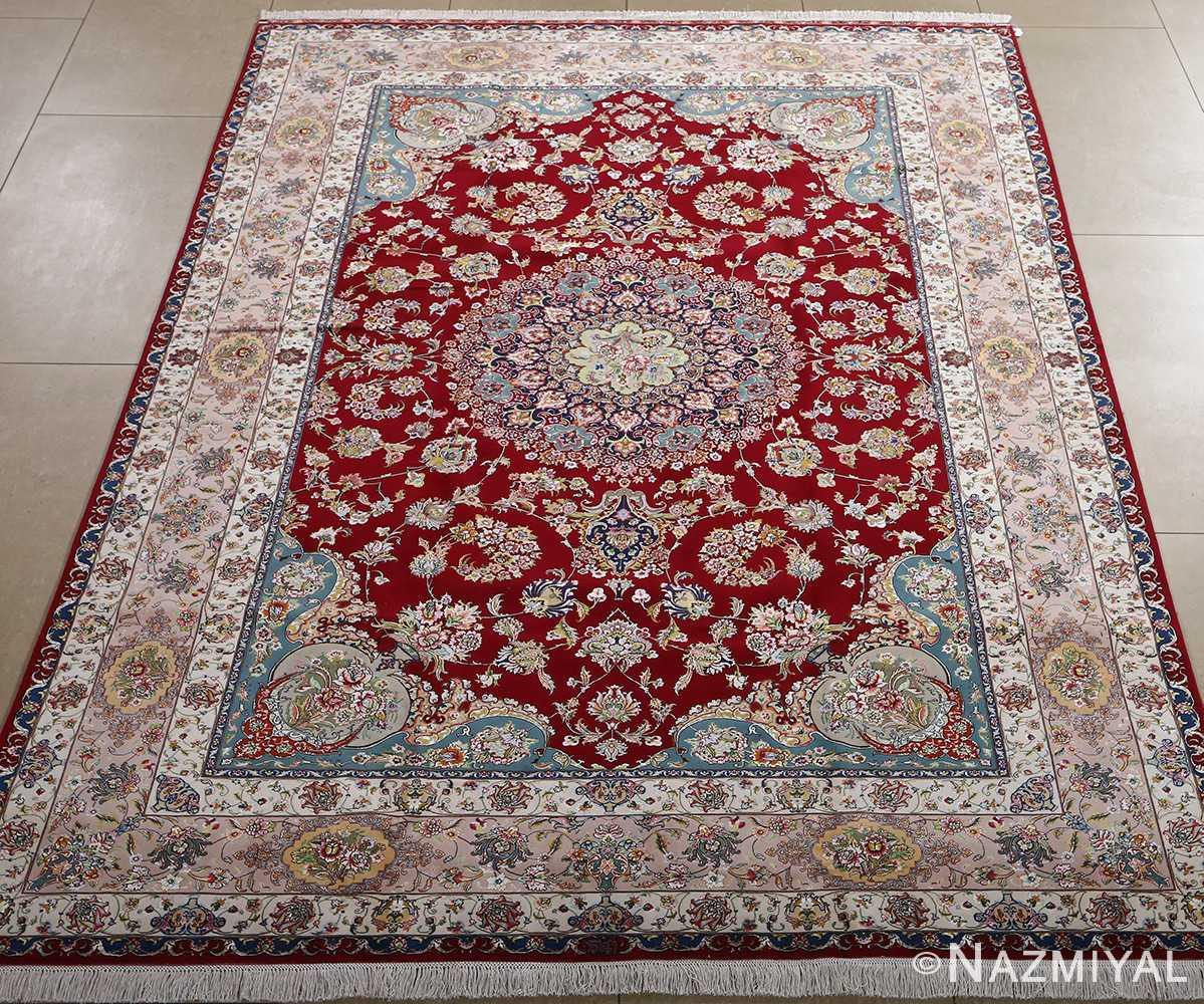 fine gharebaghi vintage tabriz persian rug 51031 full Nazmiyal
