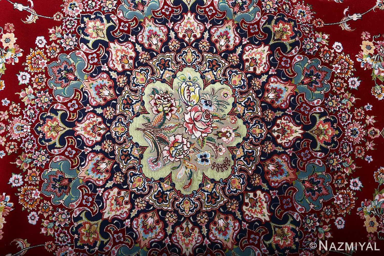fine gharebaghi vintage tabriz persian rug 51031 medallion Nazmiyal