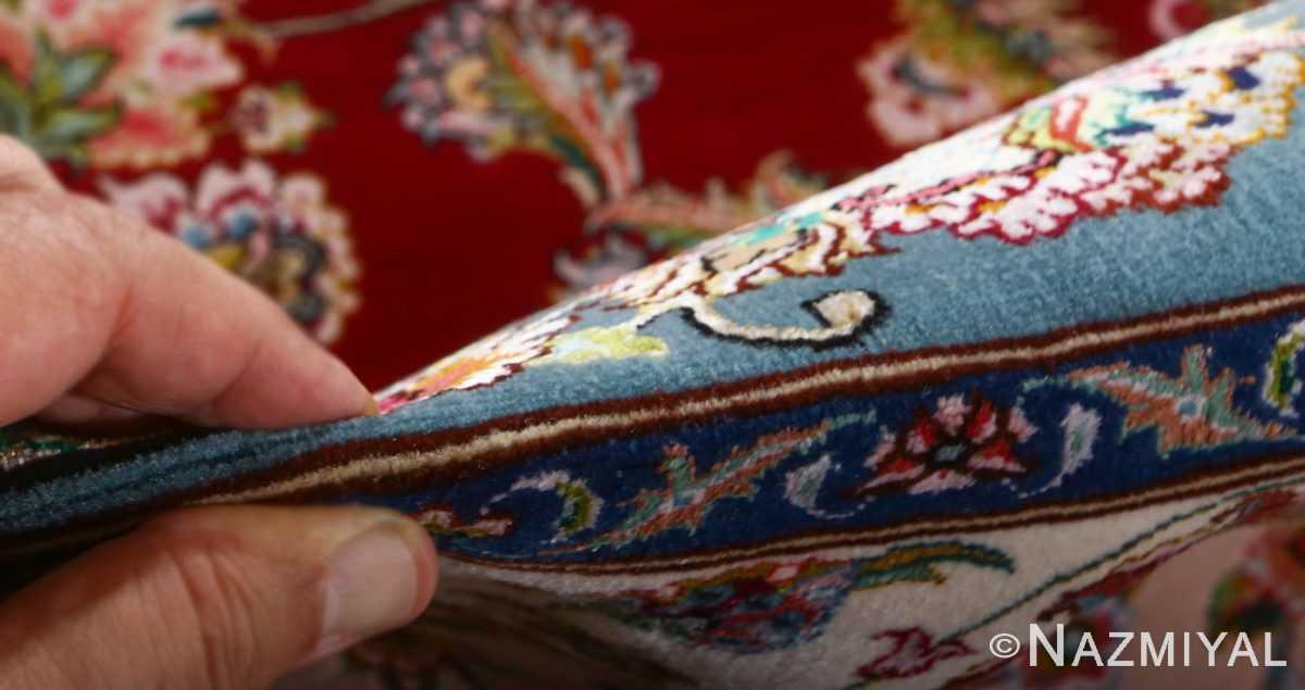 fine gharebaghi vintage tabriz persian rug 51031 pile Nazmiyal