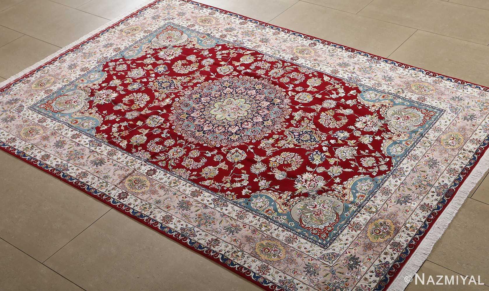 fine gharebaghi vintage tabriz persian rug 51031 side Nazmiyal