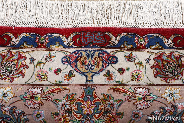 fine gharebaghi vintage tabriz persian rug 51031 signature Nazmiyal