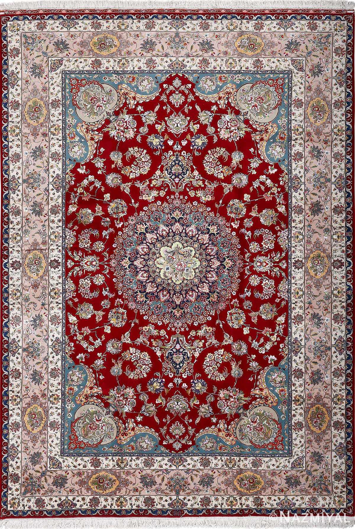 fine gharebaghi vintage tabriz persian rug 51031 Nazmiyal