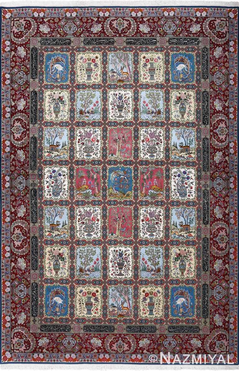fine golestan design vintage tabriz persian rug 51028 nazmiyal