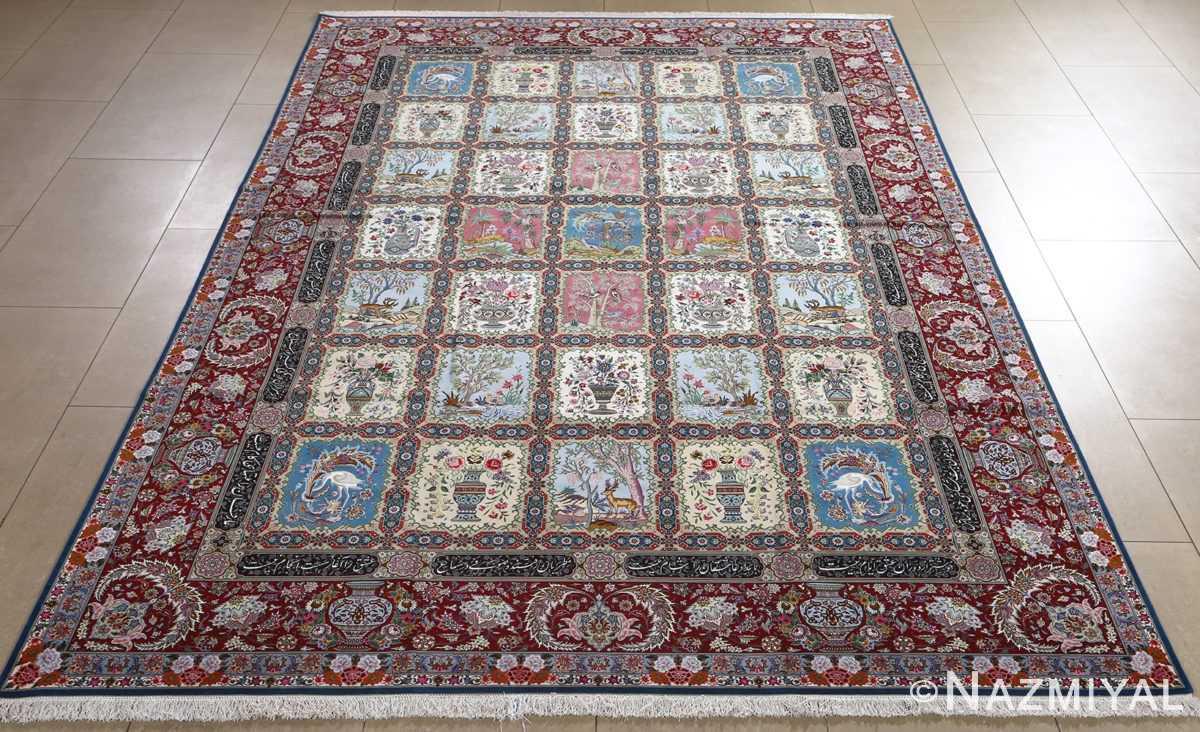 fine golestan design vintage tabriz persian rug 51028 full Nazmiyal