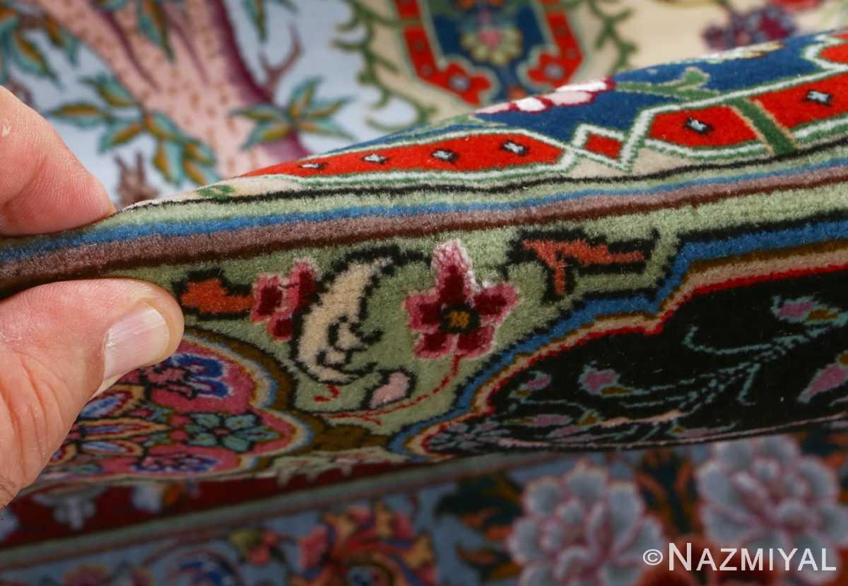 fine golestan design vintage tabriz persian rug 51028 pile Nazmiyal