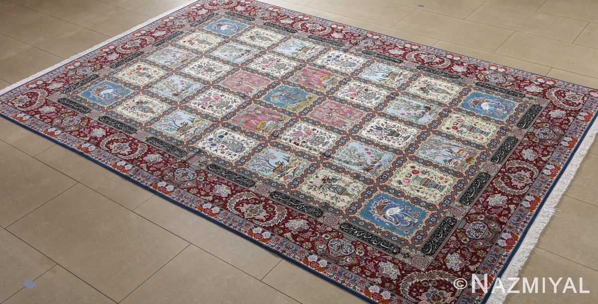 fine golestan design vintage tabriz persian rug 51028 side Nazmiyal