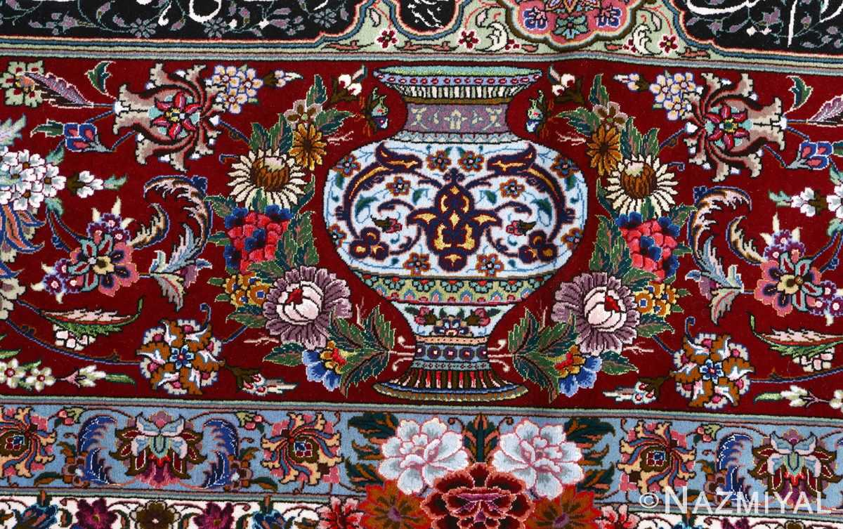 fine golestan design vintage tabriz persian rug 51028 vase Nazmiyal