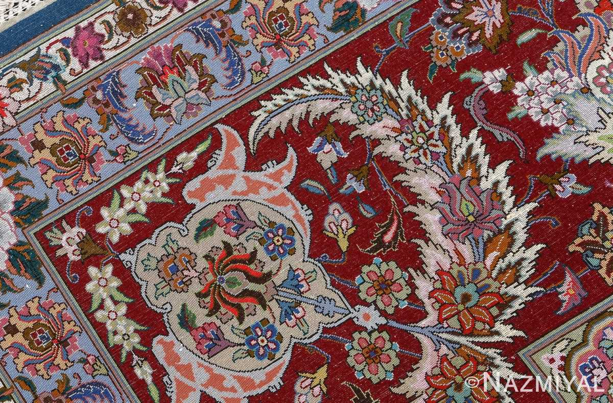 fine golestan design vintage tabriz persian rug 51028 weave Nazmiyal