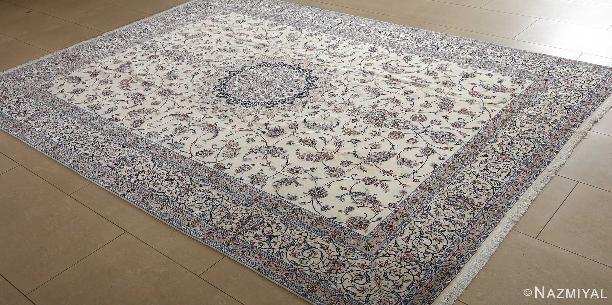 fine habibian vintage nain persian rug 51024 nazmiyal side