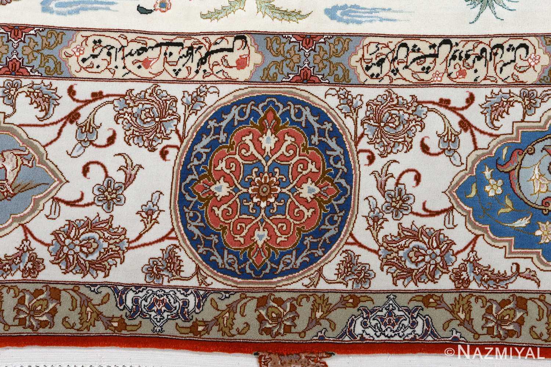fine hunting design vintage tabriz persian rug 51057 border Nazmiyal