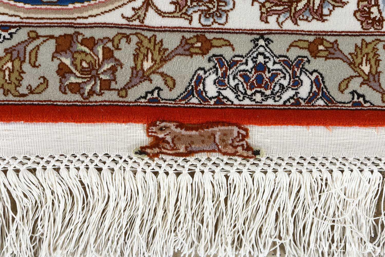 fine hunting design vintage tabriz persian rug 51057 fringe Nazmiyal