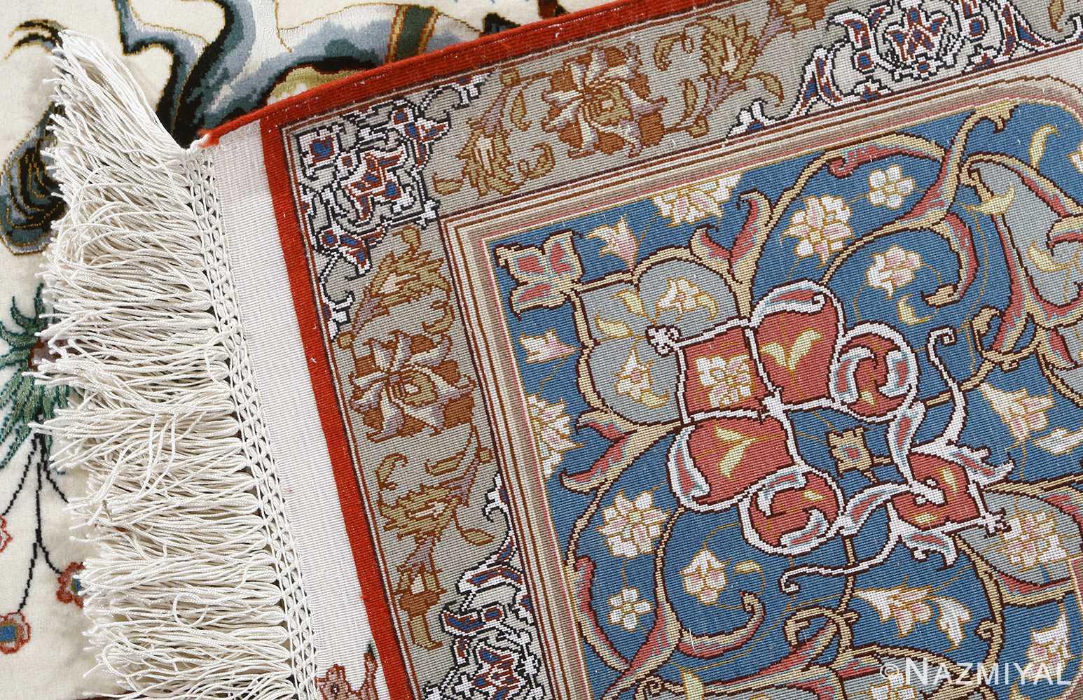 fine hunting design vintage tabriz persian rug 51057 weave Nazmiyal