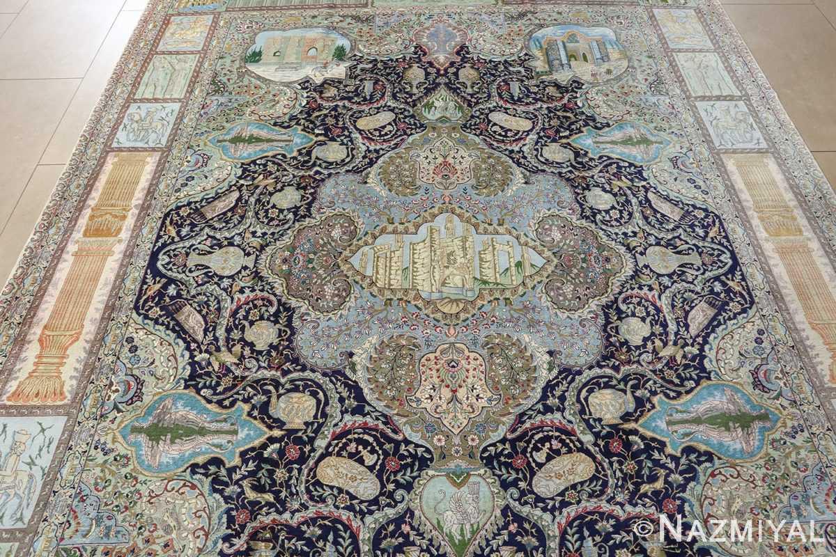 fine kork wool vintage tabriz persian rug 51033 nazmiyal center