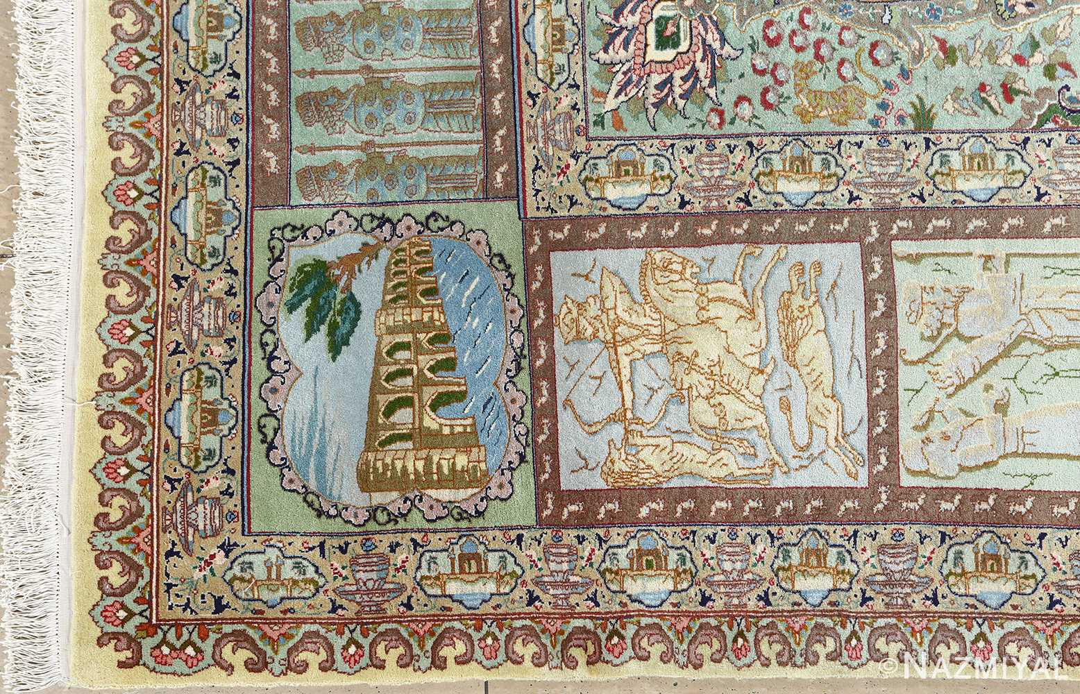 fine kork wool vintage tabriz persian rug 51033 nazmiyal corner