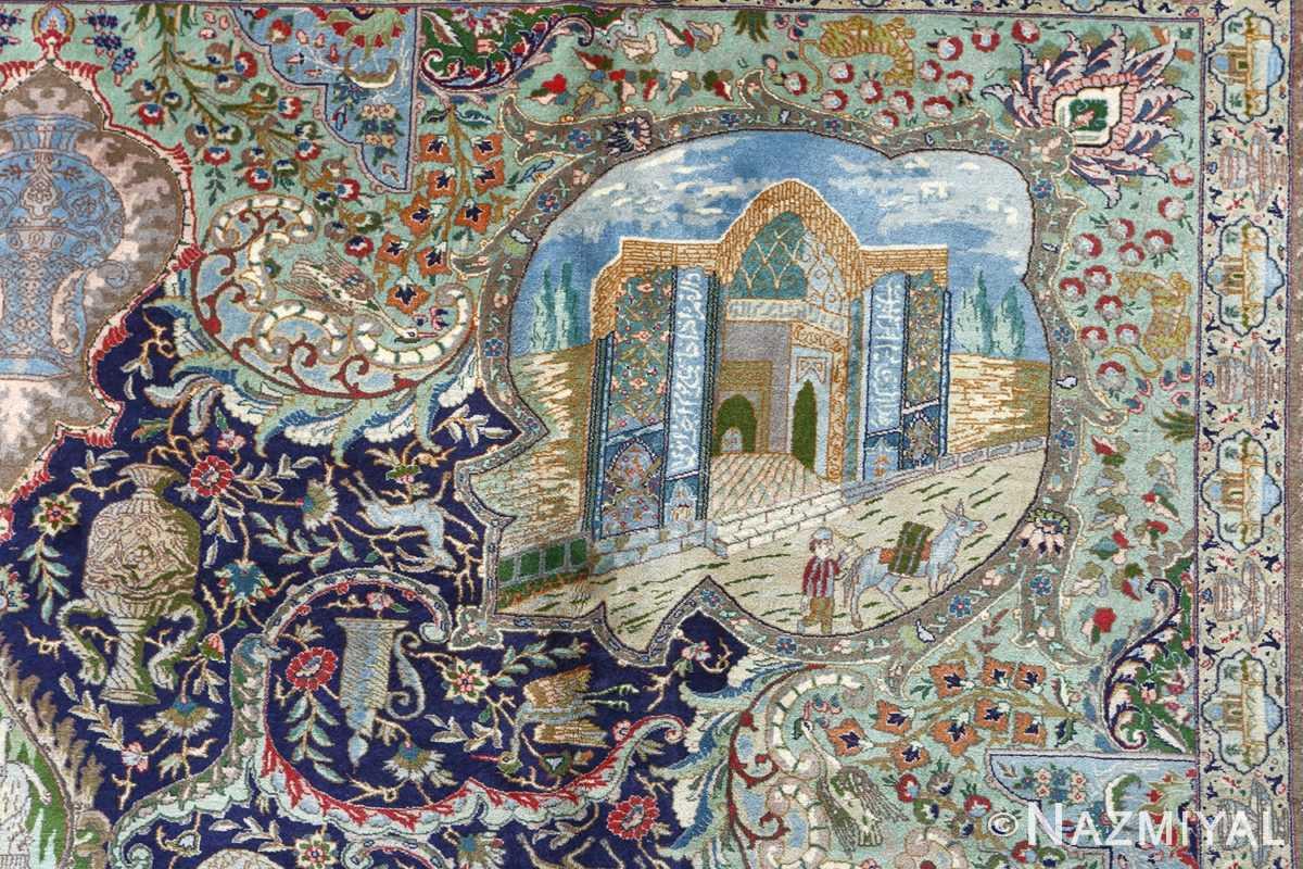 fine kork wool vintage tabriz persian rug 51033 nazmiyal donkey