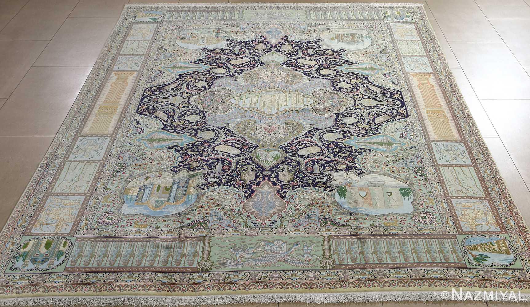 fine kork wool vintage tabriz persian rug 51033 Nazmiyal full