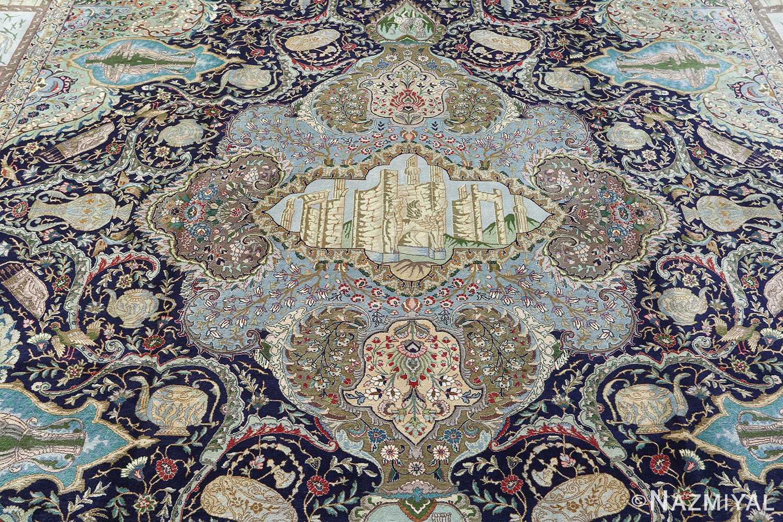 fine kork wool vintage tabriz persian rug 51033 nazmiyal medallion Nazmiyal