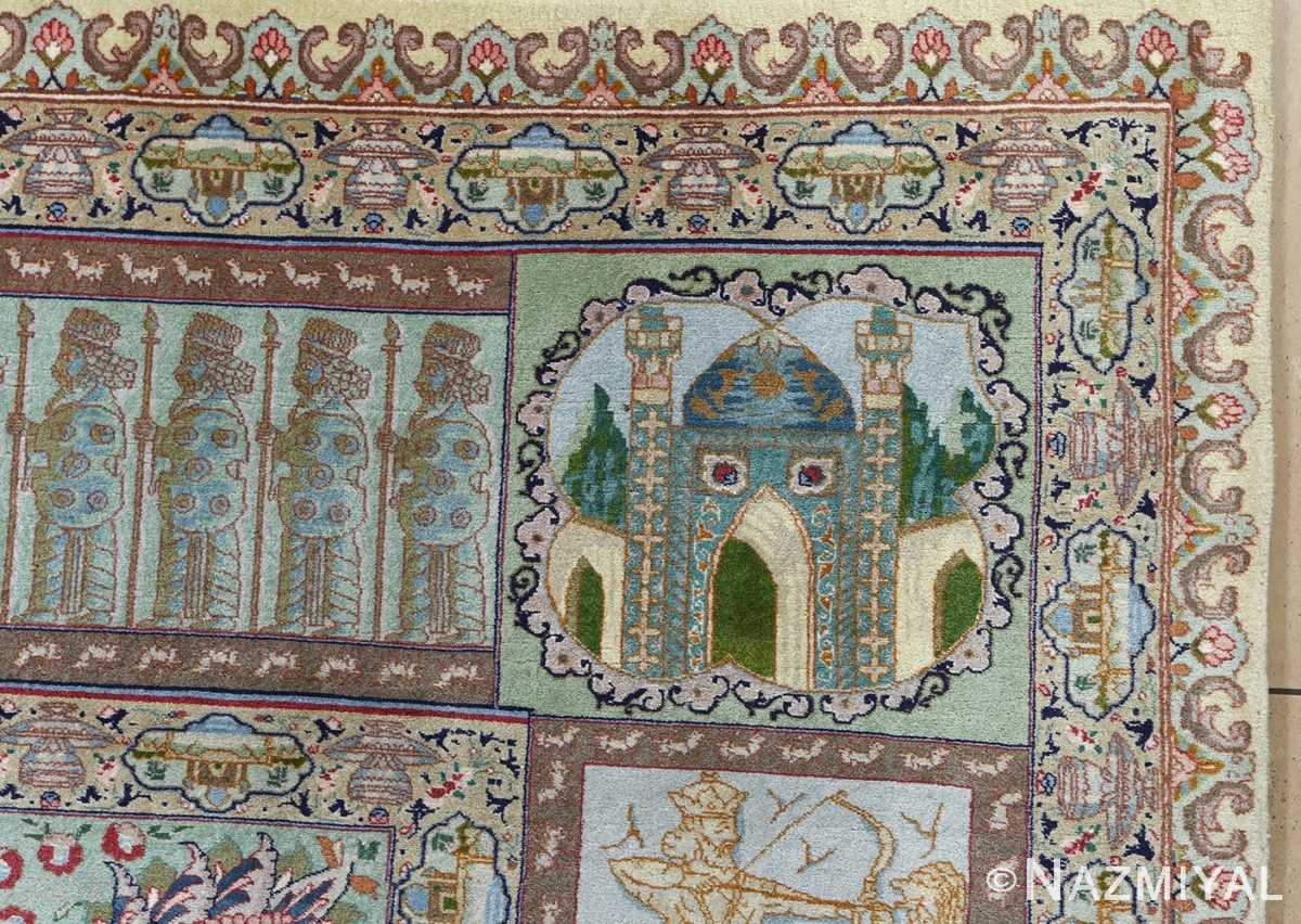 fine kork wool vintage tabriz persian rug 51033 mosque Nazmiyal