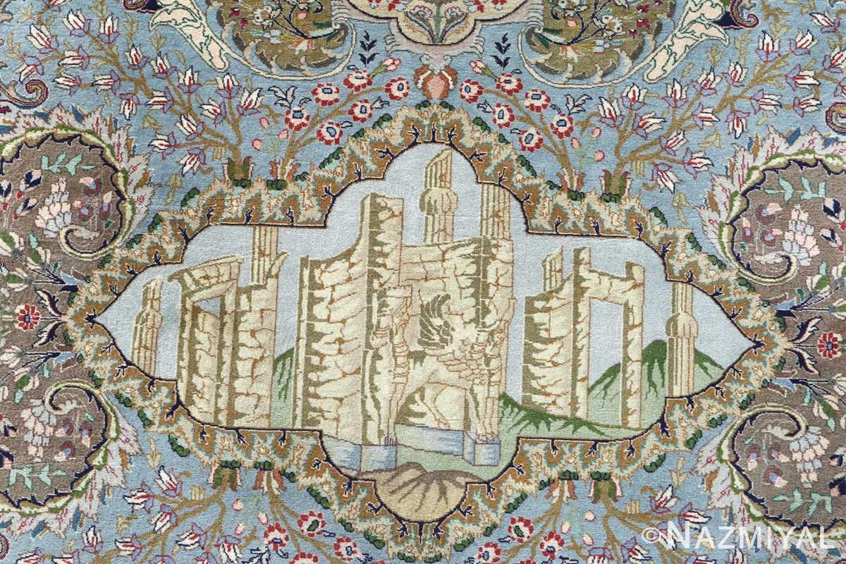 fine kork wool vintage tabriz persian rug 51033 persepolis Nazmiyal