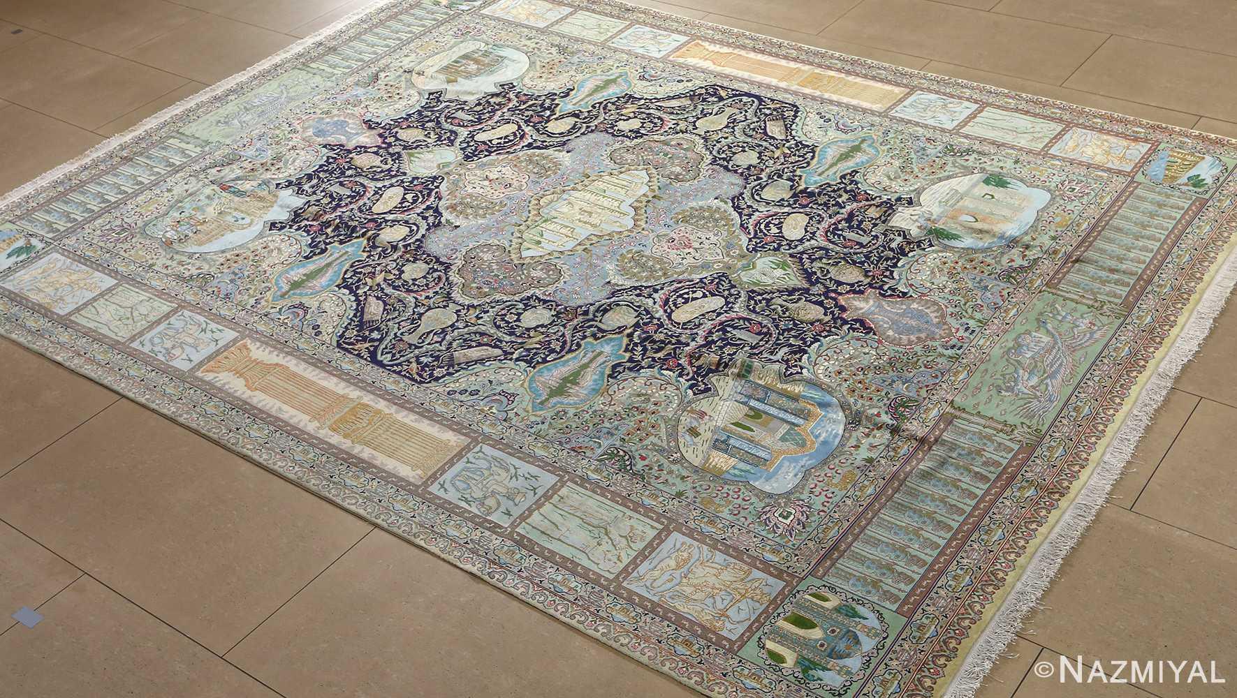 fine kork wool vintage tabriz persian rug 51033 nazmiyal side