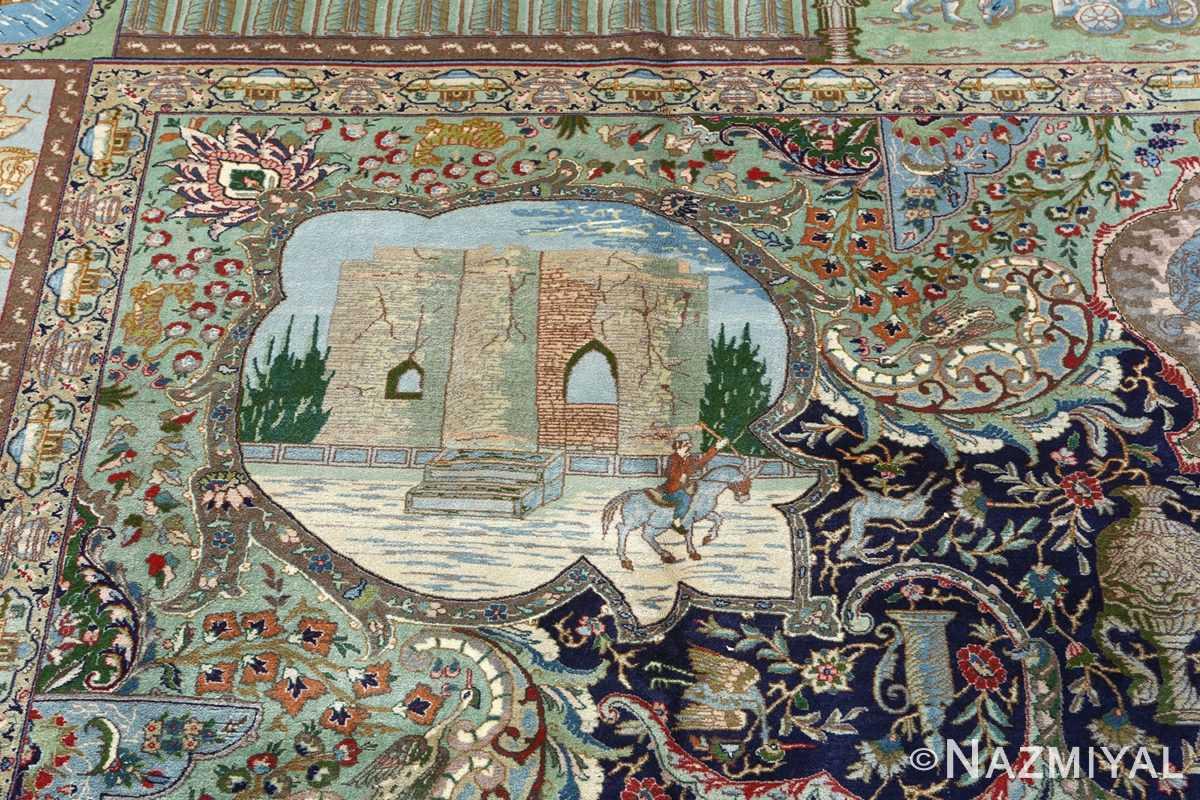 fine kork wool vintage tabriz persian rug 51033 nazmiyal tisfun