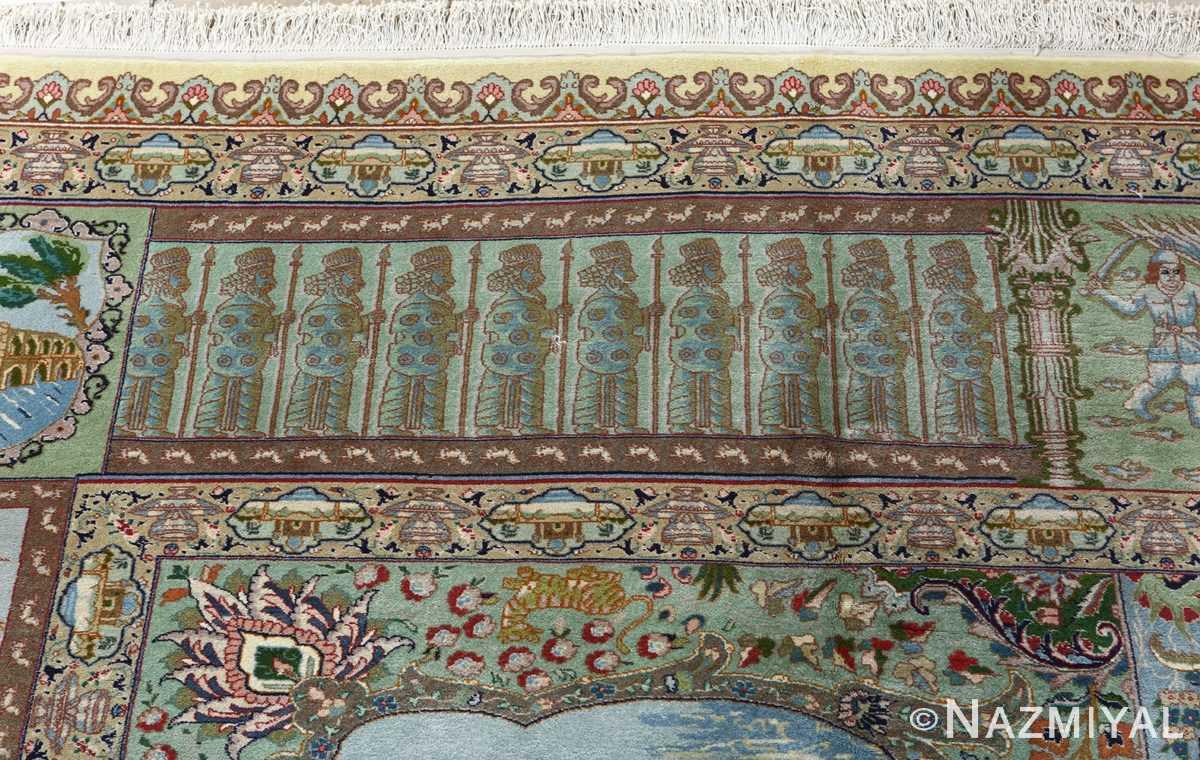 fine kork wool vintage tabriz persian rug 51033 nazmiyal top