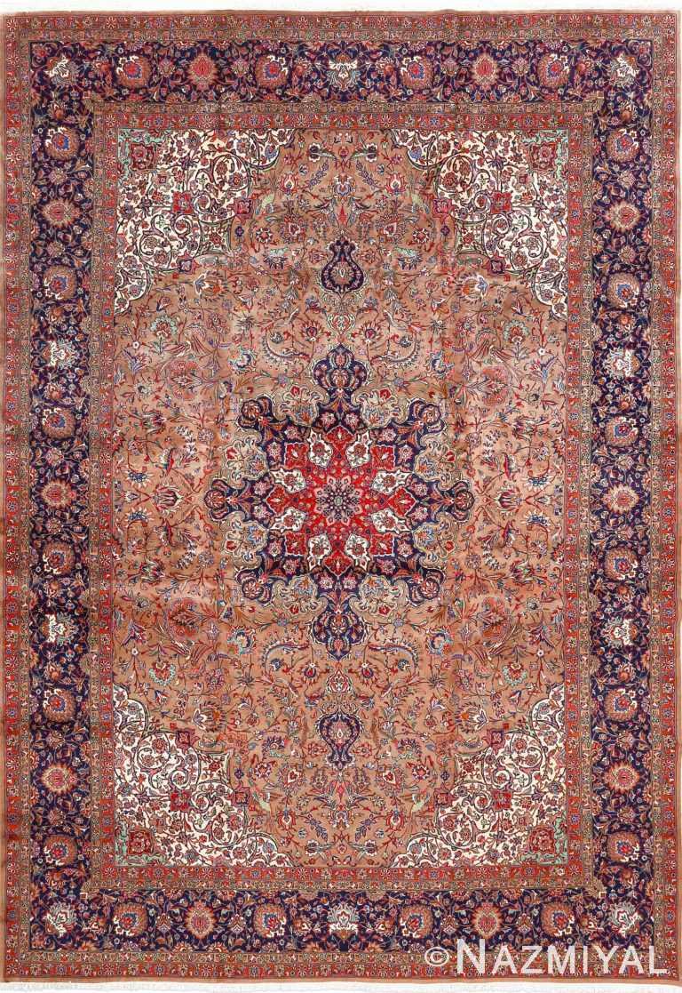 fine large vintage tabriz persian rug 51040 Nazmiyal