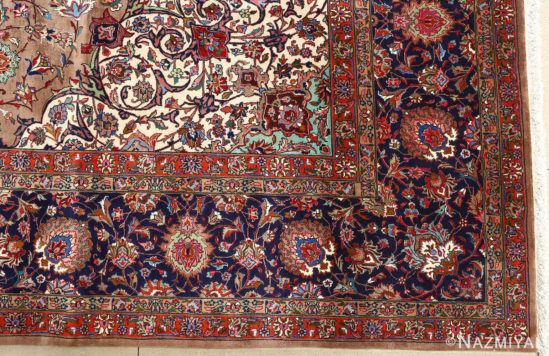 fine large vintage tabriz persian rug 51040 corner Nazmiyal