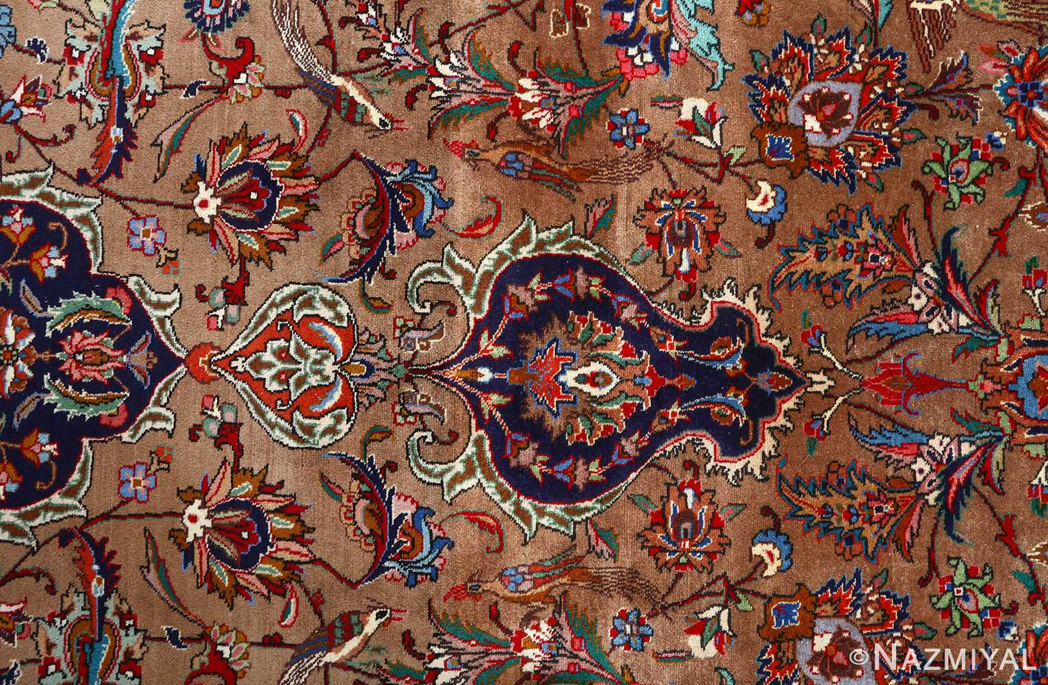 fine large vintage tabriz persian rug 51040 field Nazmiyal