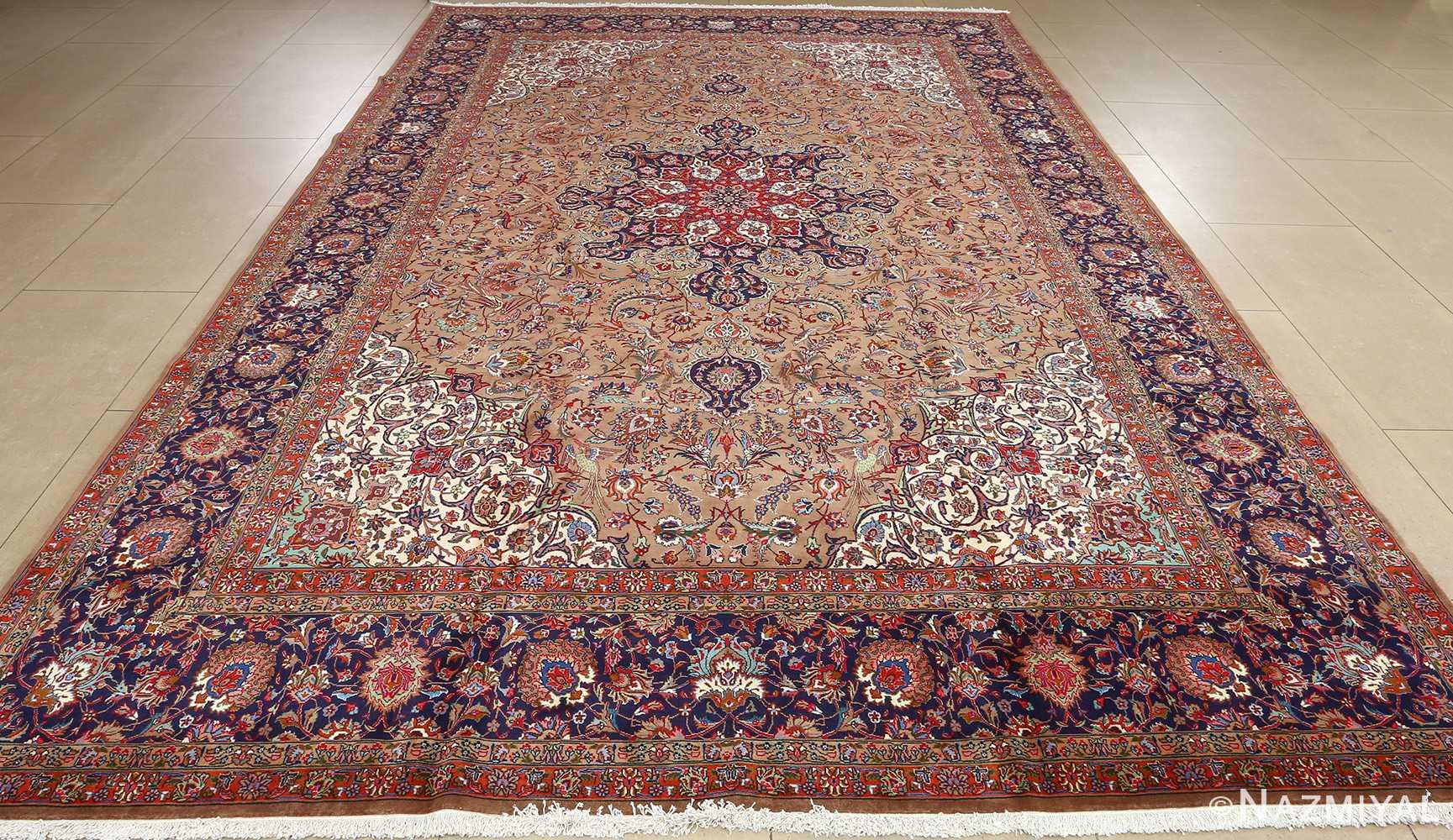 fine large vintage tabriz persian rug 51040 full Nazmiyal